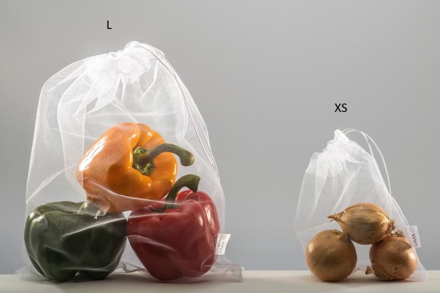 Reusable mesh bag set (XS, S, M, L)